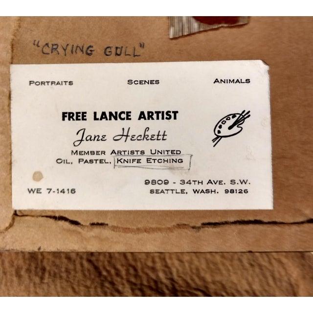 "Jane Heckett ""Seagulls"" Knife Etching - Image 7 of 9"