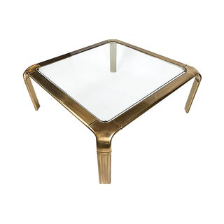 John Widdicomb Square Brass Coffee Table For Sale