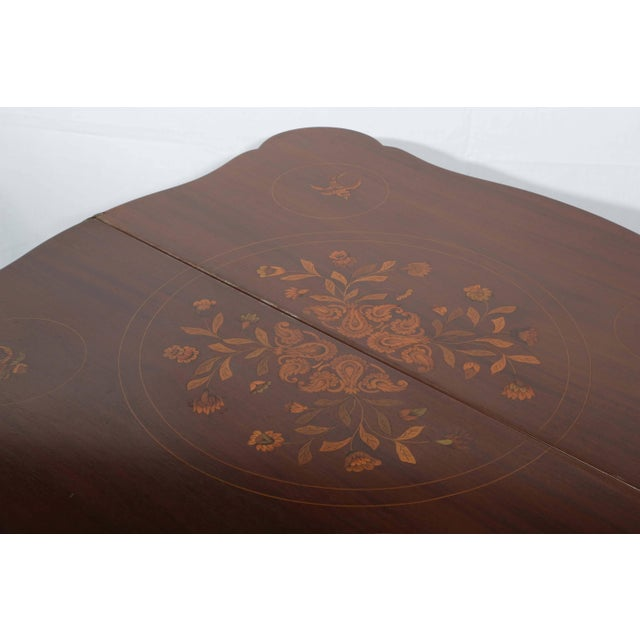 1900 - 1909 Fine Dutch Marquetry Game Table For Sale - Image 5 of 11