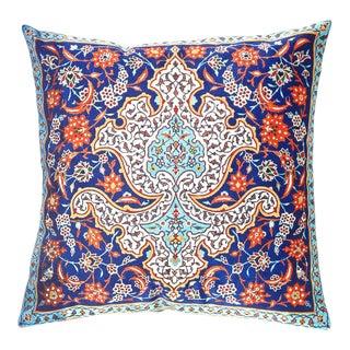 Persian Tile Velvet Pillow 16' X 16' For Sale
