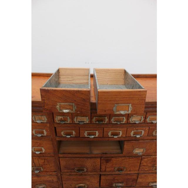 1970s Primitive Vintage Oak Cabinet- Apothecary, Card Catalog, General Store,  Antique Hardware - Primitive Vintage Oak Cabinet- Apothecary, Card Catalog, General