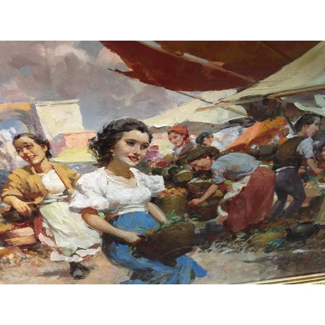 Impressionism Witman Etelka Vizkeleti Oil Painting Market Scene For Sale - Image 3 of 8
