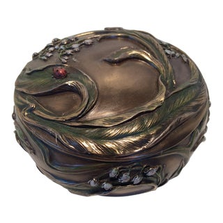 Art Nouveau Style Covered Ladybug Dish For Sale