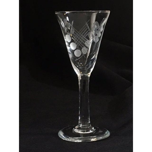 Vintage Etched Shot Glasses - Set of 12 - Image 5 of 9