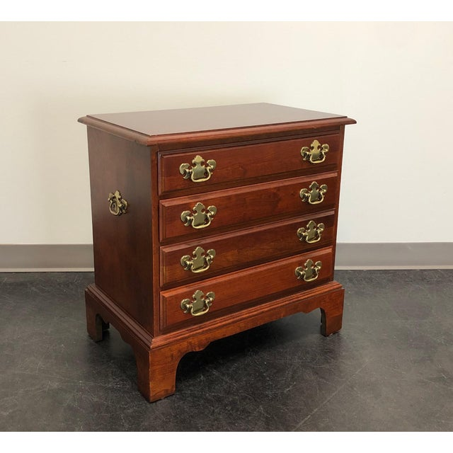 Chippendale Style Cherry Chairside Chest / Nightstand by Hooker For Sale - Image 11 of 11