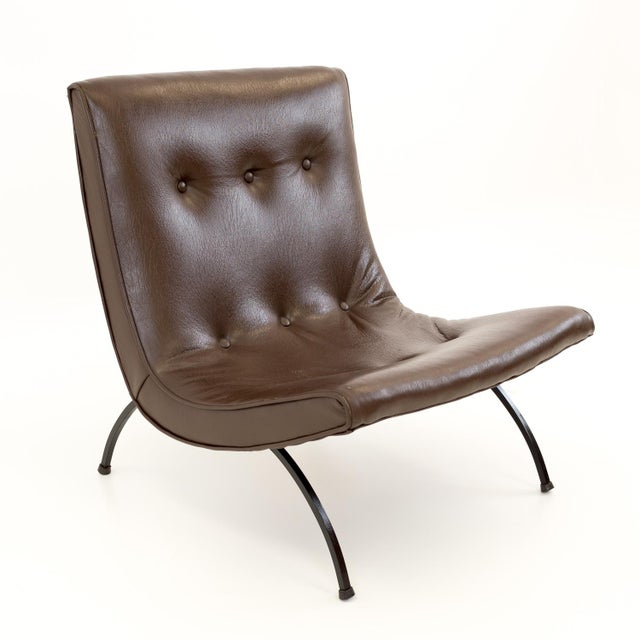 Mid 20th Century Mid Century Modern Milo Baughman Scoop Lounge Chairs- A Pair For Sale - Image 5 of 11