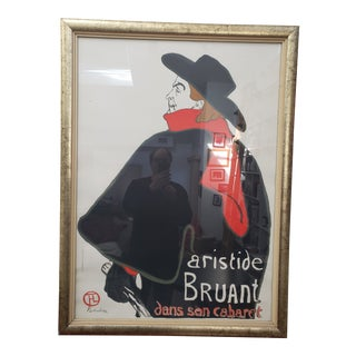 1970s Vintage Aristide Bruant Toulouse-Lautrec Framed Limited Edition Poster For Sale