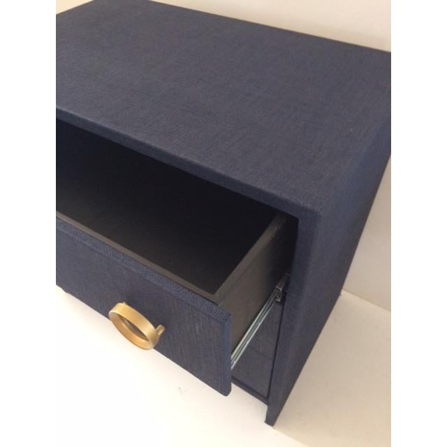 Contemporary Todd Hase Three Drawer Burlap Wrapped Chest For Sale - Image 11 of 13
