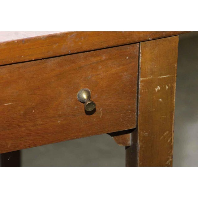 Art deco wooden corner table chairish art deco wooden corner table image 3 of 7 watchthetrailerfo