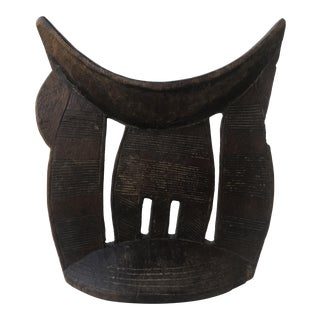 Antique Ethiopian Hand Carved African Head Rest For Sale