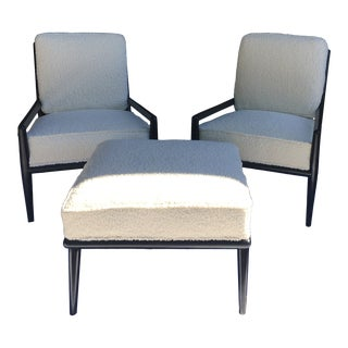 T H. Robsjohn Gibbings for Widdicomb Lounge Chairs, a Pair For Sale