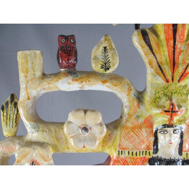 Metal Vintage Aurelio Flores Mexican Folk Art Tree of Life Sculpture For Sale - Image 7 of 13