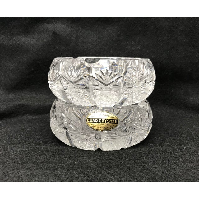 Vintage Crystal Ash Trays-a Pair For Sale In West Palm - Image 6 of 8