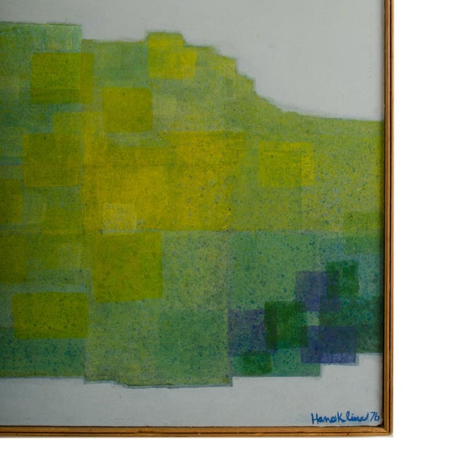 """1970s """"Double Landscape"""" Abstract Oil Painting by Hans Kline, Framed For Sale - Image 12 of 13"""