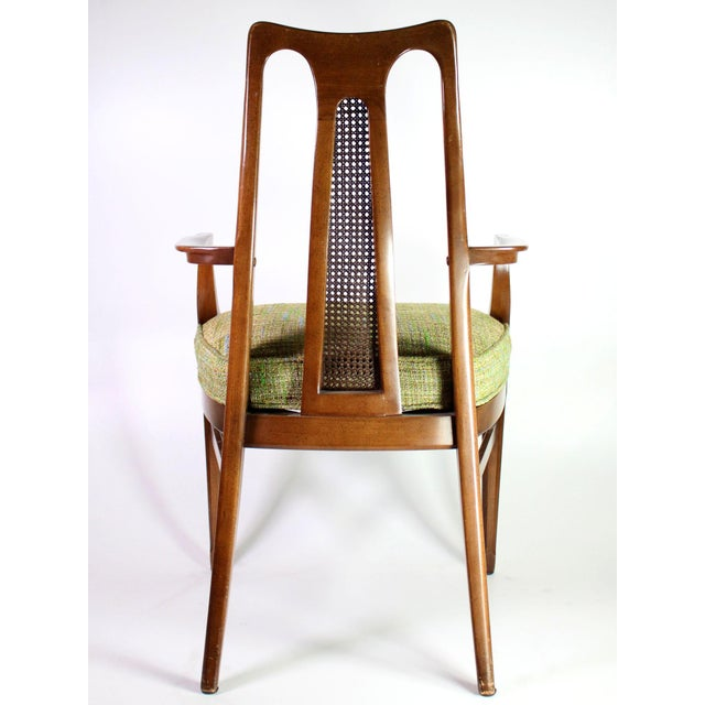 Wood Baker Walnut Mid Century Modern Cane Backed Dining Chairs - Set of 6 For Sale - Image 7 of 12