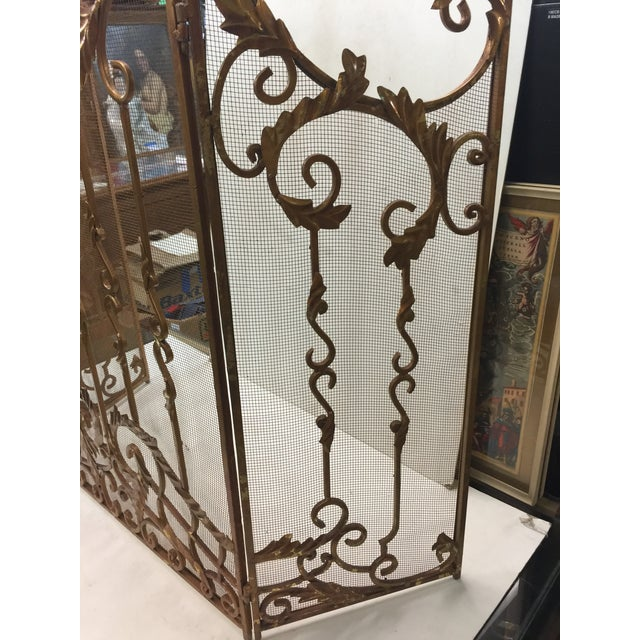 Ornate Fireplace Screen For Sale - Image 10 of 12