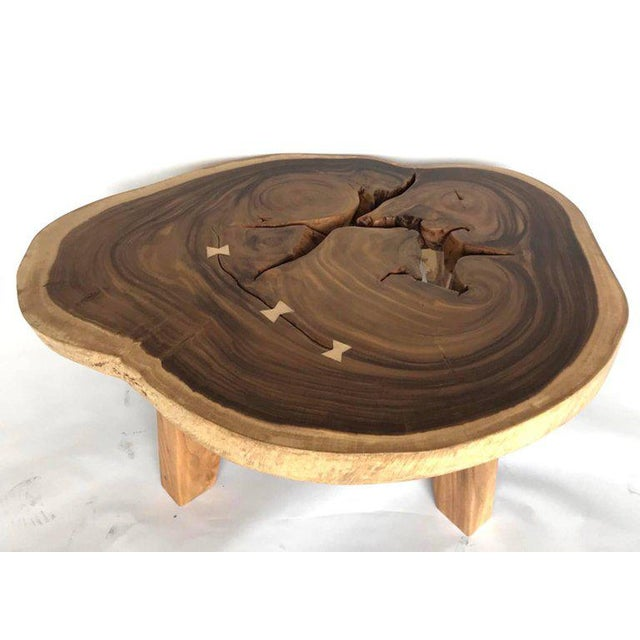 Contemporary Free-Form Wood Coffee Table For Sale - Image 3 of 10