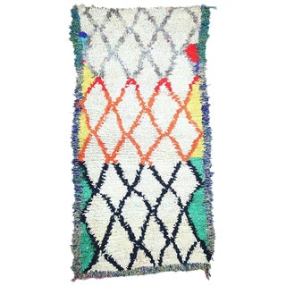 Late 20th Century Moroccan Azilal Rug - 2′6″ × 4′9″ For Sale