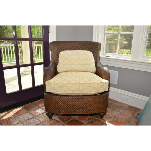 Hickory Chair Company Rattan Club Chair - Image 2 of 8
