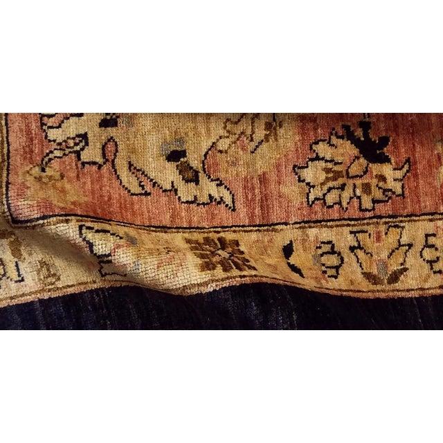 """1980s Kafkaz Peshawar Hope Blue & Pink Wool Rug - 9'9"""" x 13'4"""" For Sale - Image 5 of 7"""
