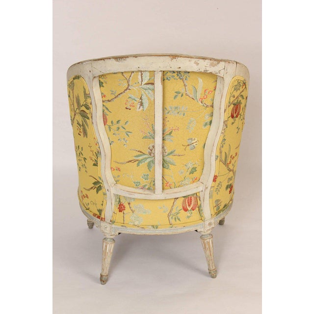 Antique Louis XVI Style Painted Bergere - Image 3 of 11