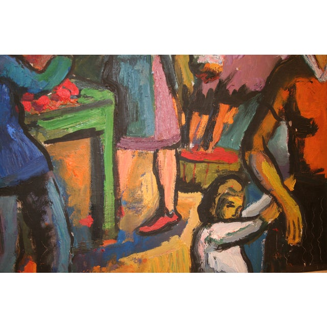 French Expressionist Oil by Pierre Ambrogiani - Image 4 of 7