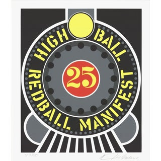 1997 Robert Indiana Highball on the Redball Manifest Serigraph For Sale