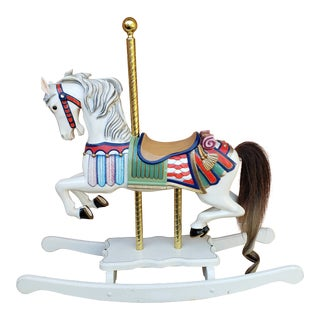 S & S Woodcarvers Carousel Horse by Pelas For Sale