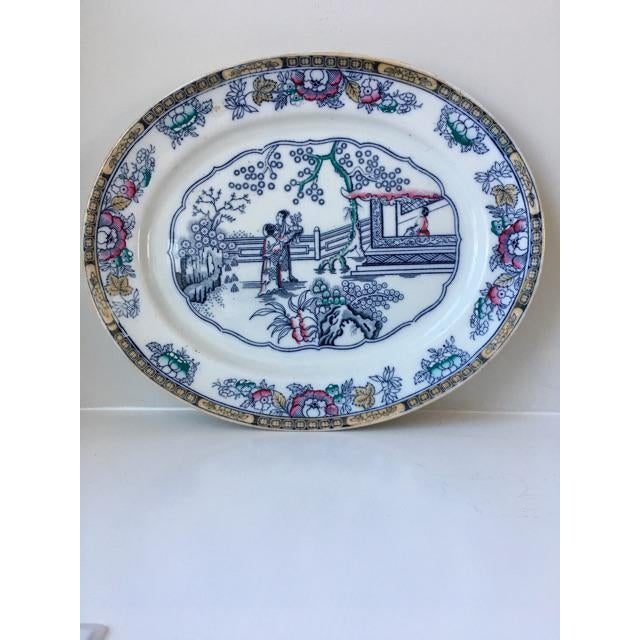 Chinoiserie Antique Ashworth Ironstone Platter For Sale - Image 3 of 9