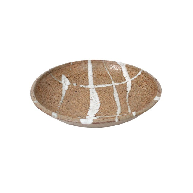1960s Abstract Japanese Pottery Charger For Sale - Image 4 of 13