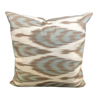Contemporary Ikat Decorative Pillow Cover For Sale
