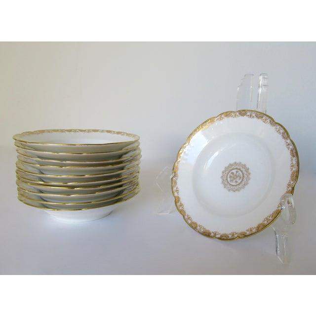 Limoges, France Vintage BMdeM, L. Strauss & Sons for Limoges Gilt Medallion Dinnerware - 60 Pieces For Sale - Image 4 of 13
