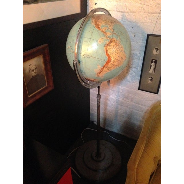 This circa 1950s schoolroom globe is a great talking point! It hails from an old schoolmaster's collection. Some small...