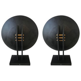 Pair of Post-Modern Sconces Designed by Robert Sonneman for George Kovacs For Sale