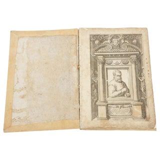 """""""Canon of the Five Orders of Architecture"""" Book by Iacomo Barozzio Da Vignola For Sale"""