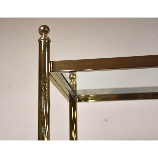 Hollywood Regency Style Brass Etageres- a Pair For Sale - Image 4 of 11