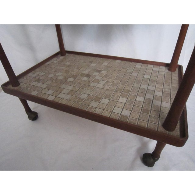 Danish Modern Teak Tea Cart For Sale - Image 5 of 6