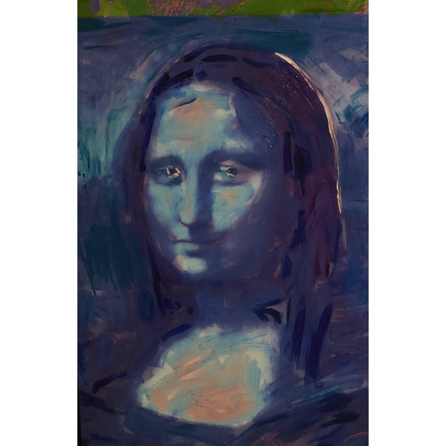 1982 Homage to Warhol Giclee Painting of the Mona Lisa by M. Eisner For Sale - Image 11 of 13