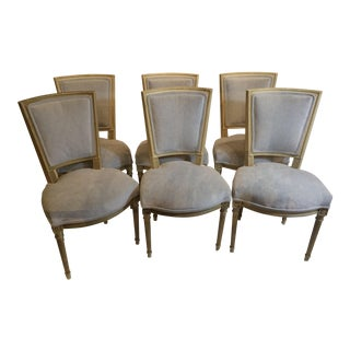Louis XVI Style Painted Chairs - Set of 6 For Sale
