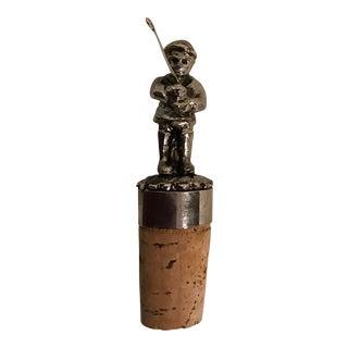 Golfer Cork for Wine Bottle