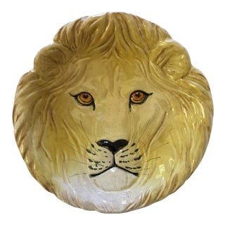 Larger- Italian Mid-Century Modern Golden Lion Bowl For Sale