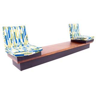 Milo Baughman for Thayer Coggin Mid Century 2 Seat Adjustable Sofa Bench For Sale