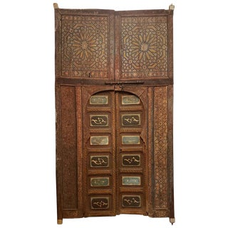 1940s Antique Moroccan Palace Double Door For Sale