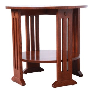 Stickley Arts & Crafts Solid Quartersawn Oak Occasional Side Table For Sale