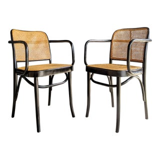 Josef Hoffman Prague 811 Bentwood Chairs - a Pair For Sale