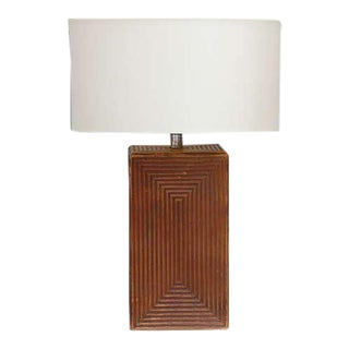 Large Cubist Ceramic Table Lamp For Sale