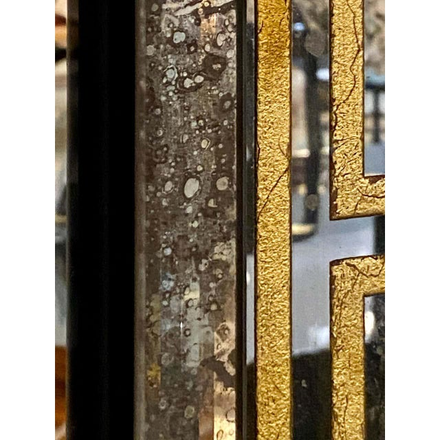 Hollywood Regency Mirrors Gilt Gold Greek Key Design Wall, Console Pier a Pair For Sale - Image 12 of 13