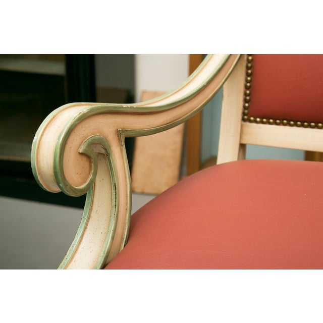 Regency Style Painted Dining Chairs - Set of 6 For Sale - Image 11 of 12