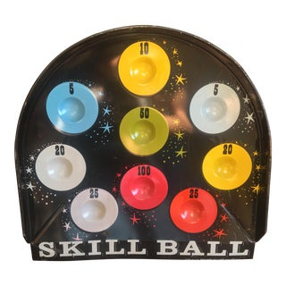 Vintage Skill Ball Game Board For Sale