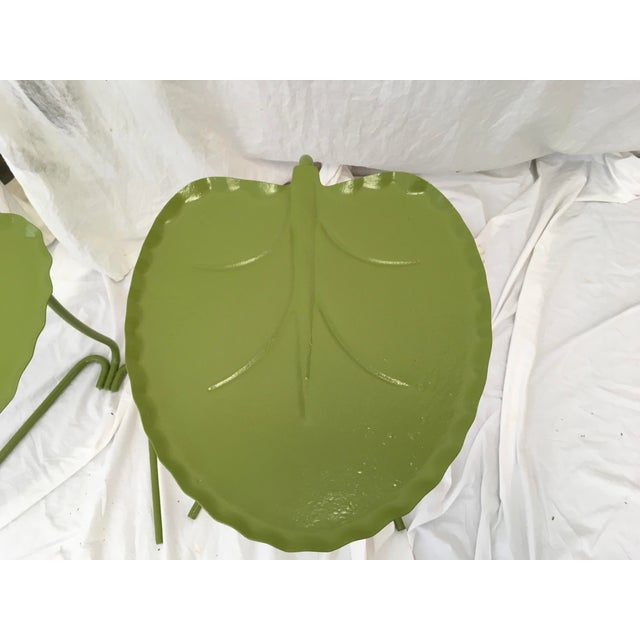 Salterini Green Lily Pad Tables, S/2 - Image 4 of 10